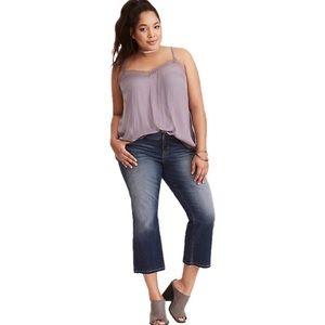 Torrid 3X Grey Satin Lace Trim Cami Top Plus Size
